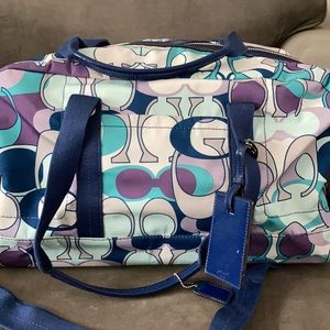 Coach Travel Bag Overnight Bag-Detachable Strap